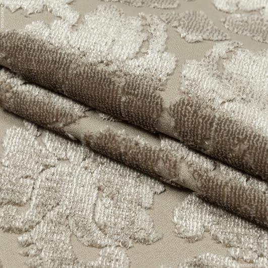 Тканини для меблів - Велюр жакард жасмін /jasmine беж
