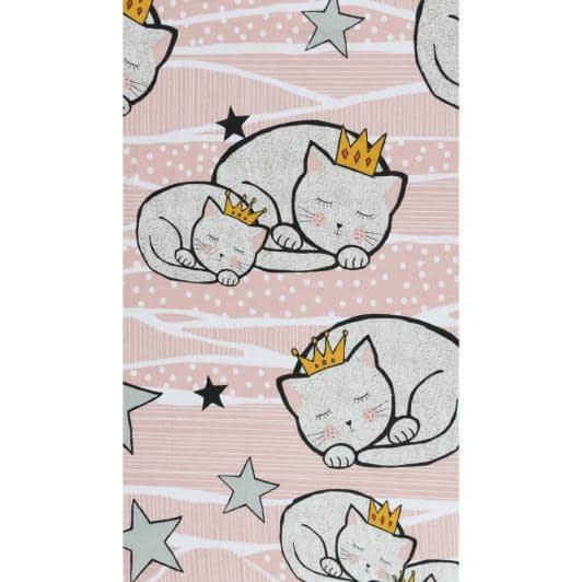 Ткани для детского постельного белья - Бязь набивная детская коты