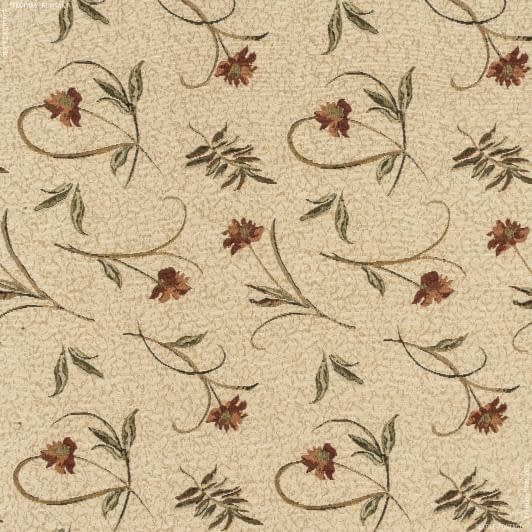 Ткани для декоративных подушек - Гобелен  бархатцы/ фон беж