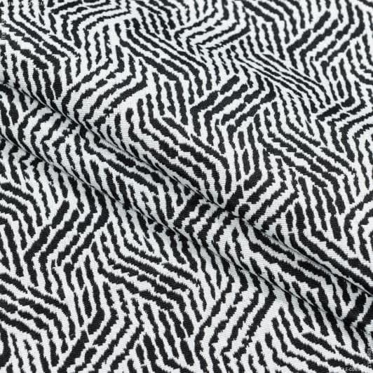 Тканини портьєрні тканини - Жакард матті-2/mattie-2 /чорний