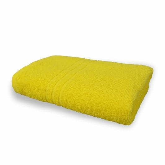 Тканини махрові рушники - Рушник махровий  70х140 жовтий