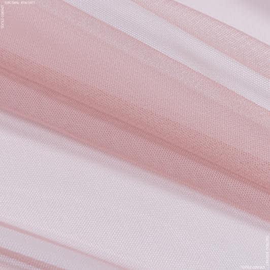 Ткани гардинные ткани - Тюль с утяжелителем сетка грек/grek /бархатная роза