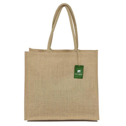 Тканини сумка шопер - Сумка джутова шоппер (ручка 53 см)