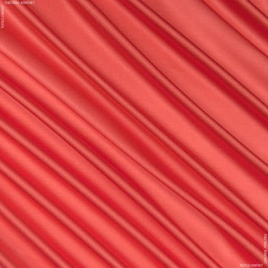 Ткани для белья - Атлас шелк стрейч коралловый