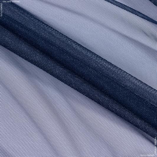 Тканини гардинні тканини - Тюль з обважнювачем сітка грек/grek т.синій