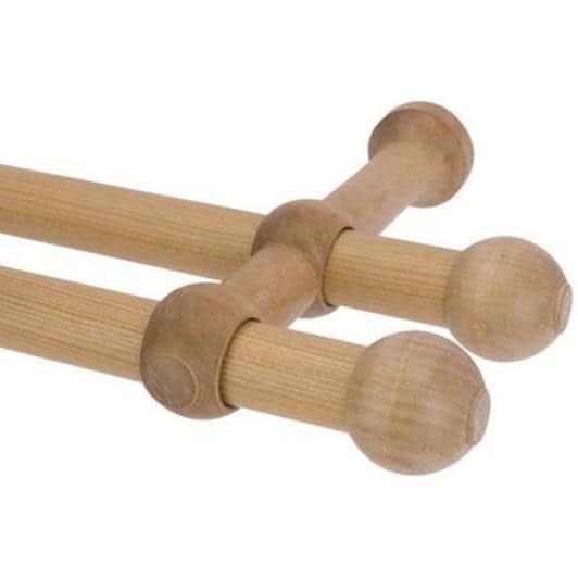 Тканини карнизи - Карниз дерев'яний прато нью ІІ 160CM світлий дуб 25/25мм/160см