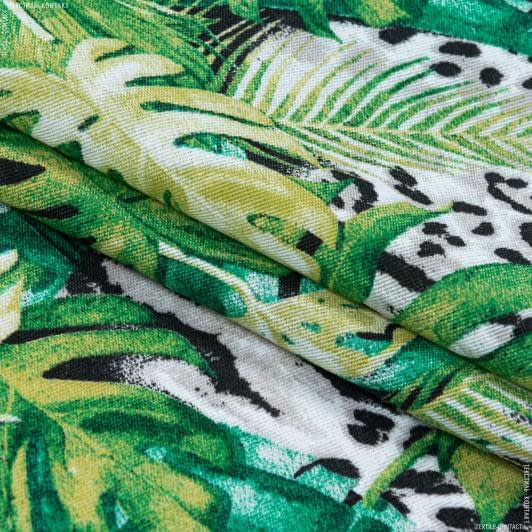 Ткани портьерные ткани - Декоративная ткань селва /selva крупный лист/selva зеленый