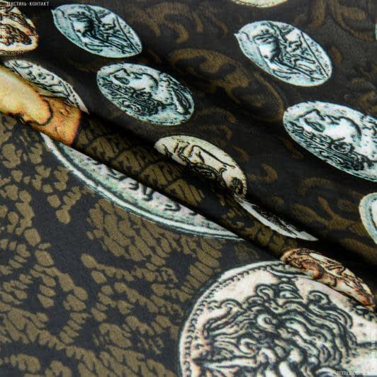 Ткани для блузок - Шелк искусственный принт