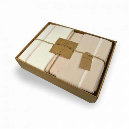 Ткани комплект постельного белья - Кпб полуторный кремово-бежевый