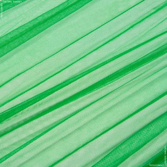 Ткани для блузок - Фатин мягкий трава