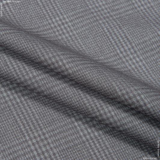 Ткани для костюмов - Костюмная клетка кофейный