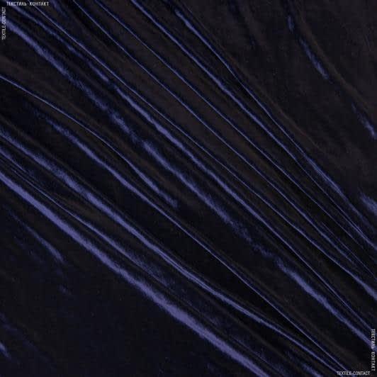 Тканини для костюмів - Оксамит натуральний темно-синій