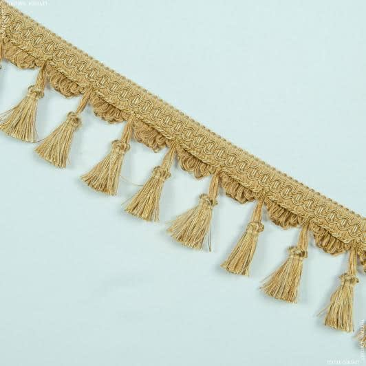 Ткани фурнитура для декора - Бахрома имеджен кисточка золото