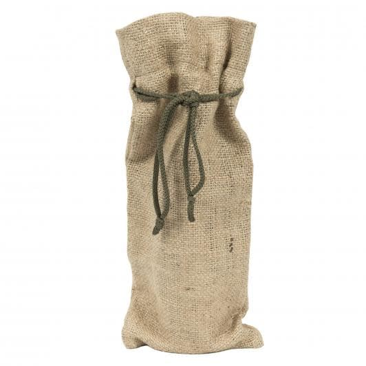 Тканини екосумка - Мішечок  мішковина зі шнурком 14х35