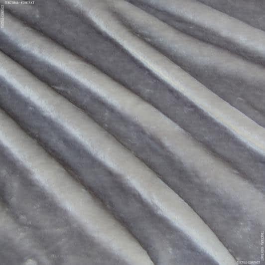 Ткани для верхней одежды - Мех коротковорсовый светло-серый