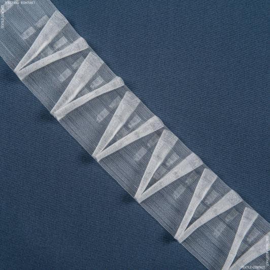 Ткани фурнитура для дома - ТЕСЬМА ШТОРНАЯ КС-1:2.5 80мм±0.5мм /100м прозрачная V-образная