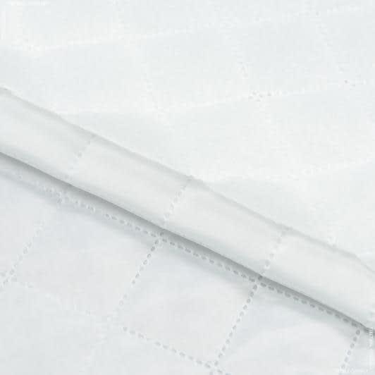 Ткани подкладочная ткань - Подкладка 190Т термопаяная с синтепоном 100г/м  4см х 4см  молочный