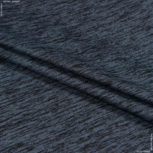 Тканини для блузок - Трикотаж меланжтемно-сірий