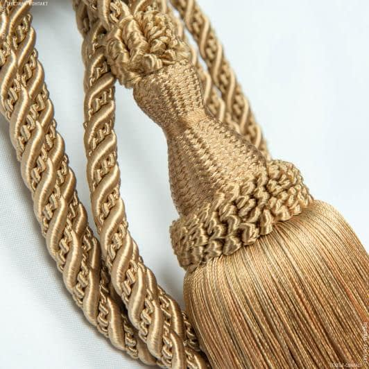 Тканини фурнітура для декора - Кисті солар карамель