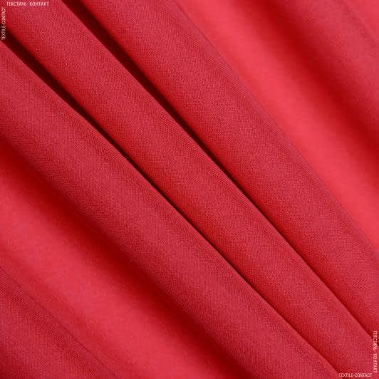 Тканини для хусток та бандан - Шифон  стрейч червоний