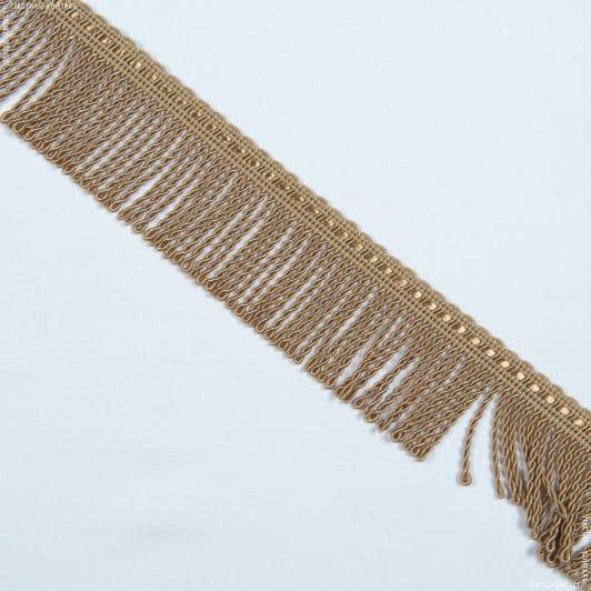 Тканини фурнітура для декора - Бахрома солар спіраль карамель