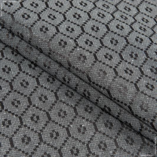 Тканини horeca - Скатертна тканина камелія примула графіт