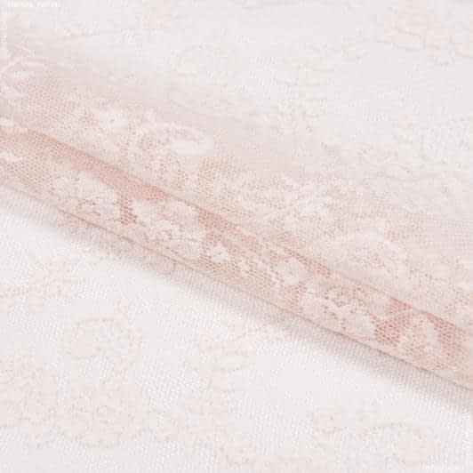 Тканини гардинні тканини - Гардинне полотно гіпюр венус рожевий