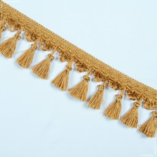 Ткани фурнитура для декора - Бахрома солар кисточка яркое золото