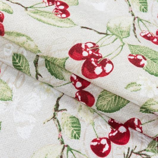 Тканини портьєрні тканини - Декоративна тканина лонета РОСАЛІНА / вишня