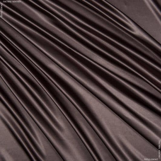 Ткани для белья - Атлас лайт софт кофейно-коричневый