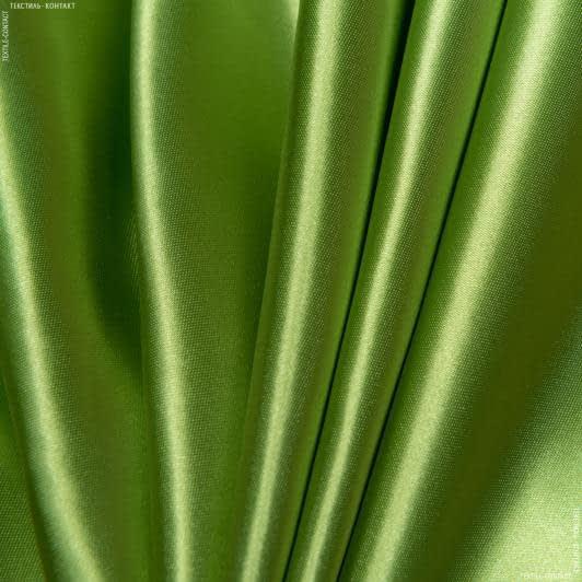 Тканини для хусток та бандан - Атлас щільний темно-оливковий