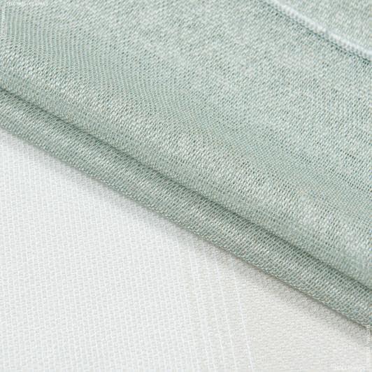 Тканини для тюлі - Тюль кармен купон смуга екрю,лазур