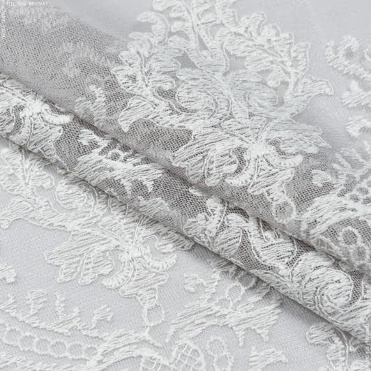 Ткани гардинные ткани - Тюль вышивка  виталина купон,серый