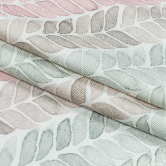 Тканини портьєрні тканини - Декоративна тканина лія колос/ розжевий,св полин,беж
