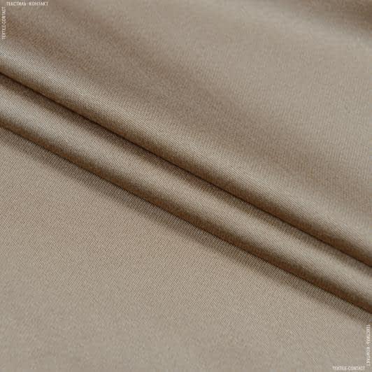 Тканини для суконь - Платтяний сатин темно-бежевий