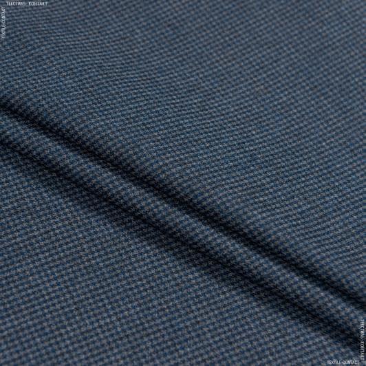 Тканини для костюмів - Костюмна віскоза синьо-сірий