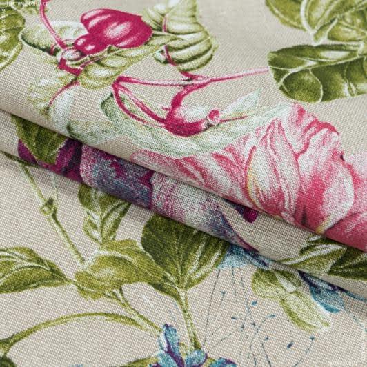 Ткани портьерные ткани - Декоративная ткань надин/nadine  сирень фон натур/сирень