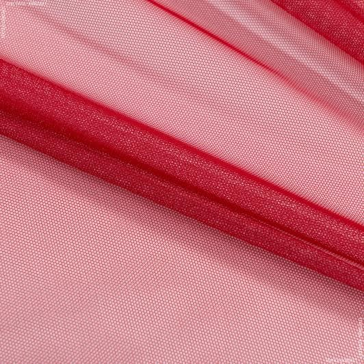 Ткани гардинные ткани - Тюль с утяжелителем сетка грек/grek красный