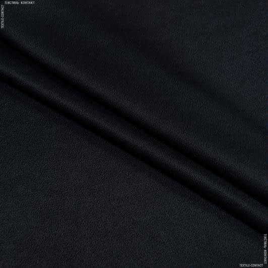 Ткани для костюмов - Плательный креп-сатин мика черный