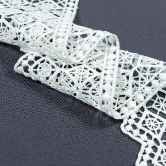 Тканини для печворку - Декоративне мереживо  джейн  молочний  7 см