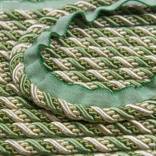 Тканини фурнітура для декора - Шнур окантов. Імедженейшен нефрит  d=10мм