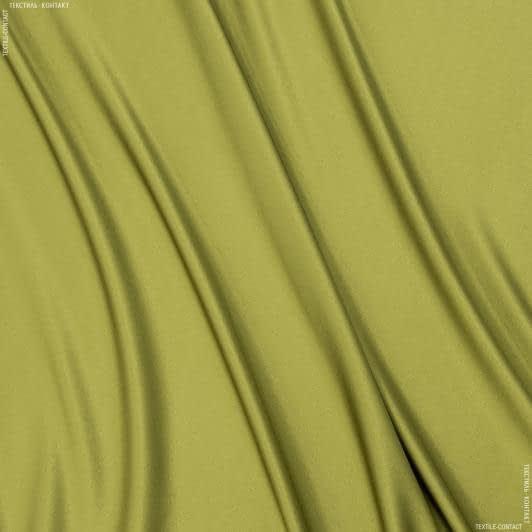 Ткани для белья - Атлас шелк натуральный  стрейч  фисташка