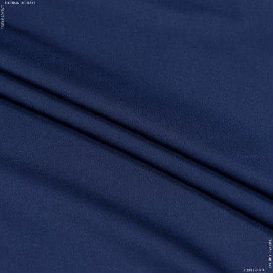 Ткани для платков и бандан - Шелк искусственный стрейч синий