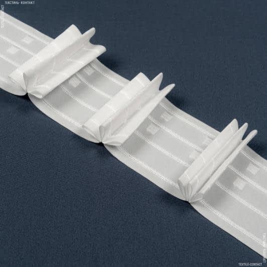 Ткани фурнитура для дома - ТЕСЬМА ШТОРНАЯ КС-1:2.5 100м±0.5мм/100м матовая Три складки