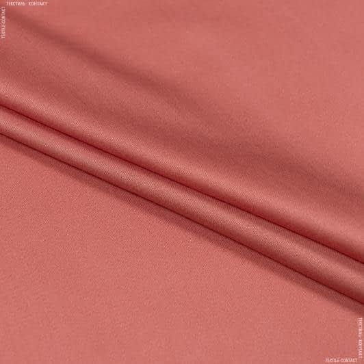 Тканини для суконь - Платтяний сатин світло-цегляний