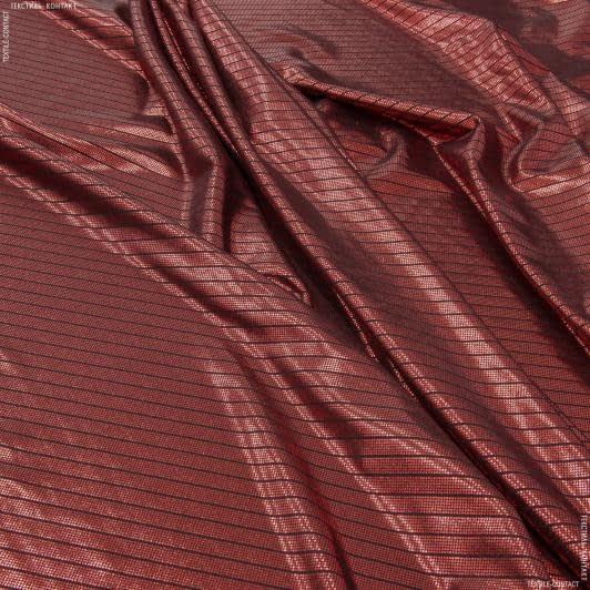 Ткани для платьев - Парча диско диагональ красный