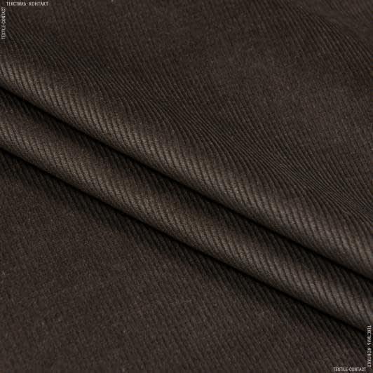 Тканини для верхнього одягу - Вельвет класик коричневий