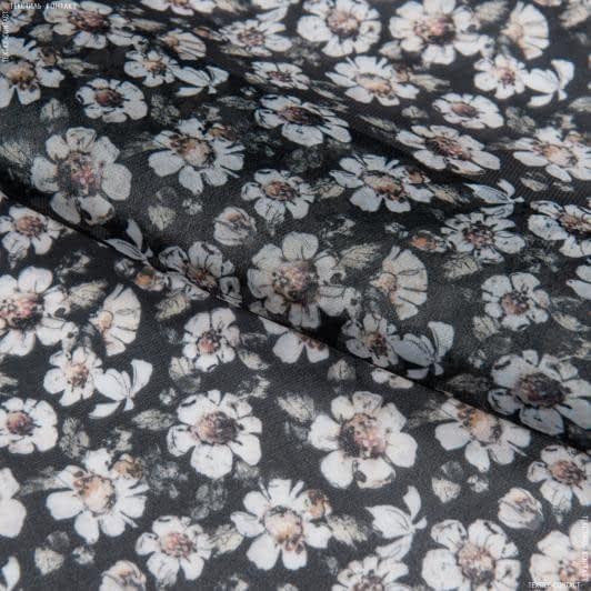 Ткани для платьев - Органза блеск принт