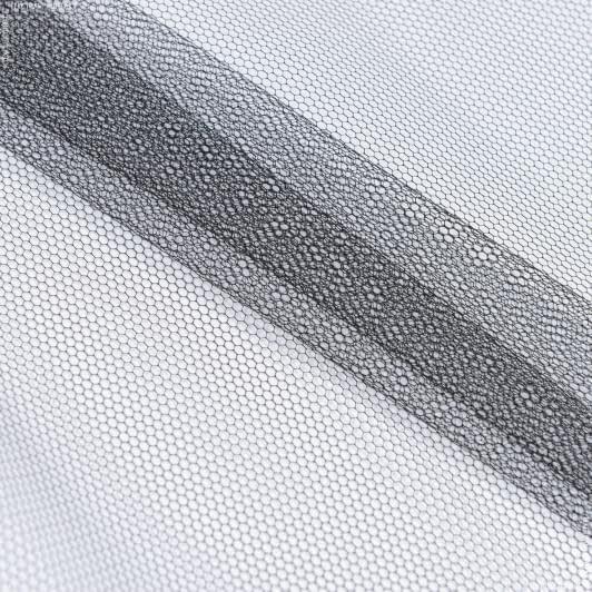 Ткани для платьев - Фатин жесткий черный