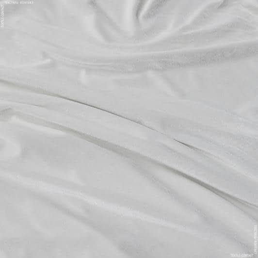 Ткани для костюмов - Бархат стрейч светло-молочный